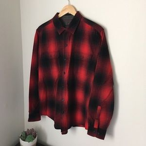 Vintage red and black woolrich flannel